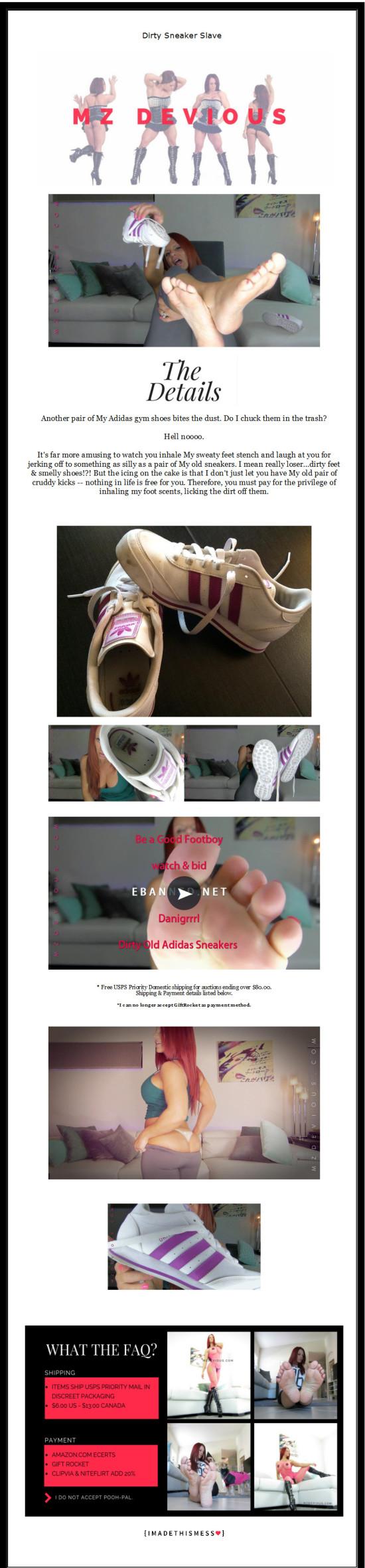 ebanned sneaker auction